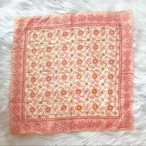 Natural Life Pink Handkerchief Scarf Bandana Boho